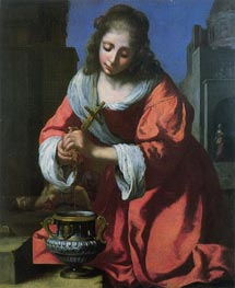 Saint Praxedis | Vermeer | Painting Reproduction