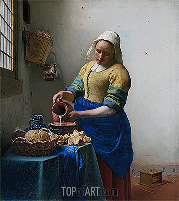 The Milkmaid (The Kitchen Maid), c.1658/60 | Vermeer | Gemälde Reproduktion