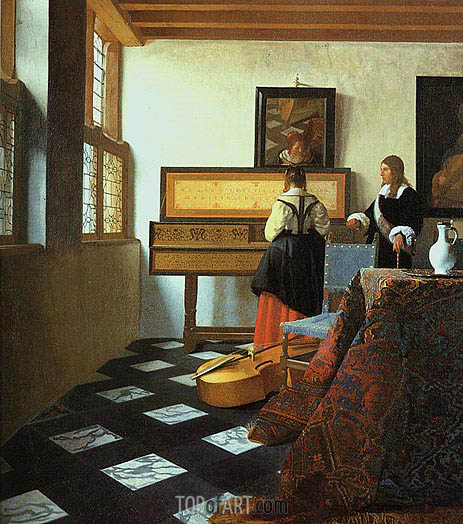 The Music Lesson, c.1662/65 | Vermeer | Painting Reproduction