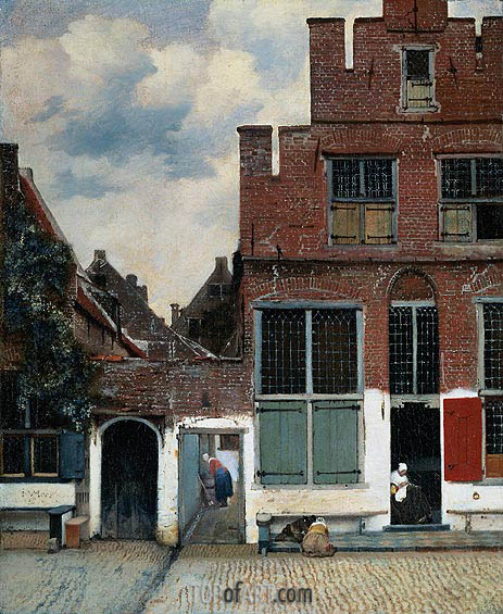 The Little Street, c.1657/58 | Vermeer | Painting Reproduction