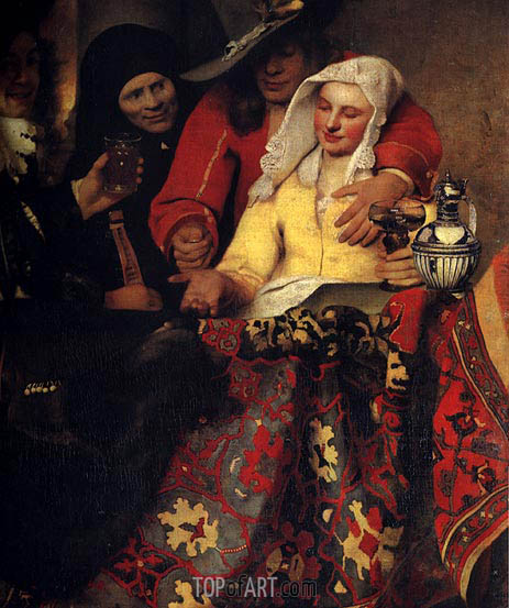 The Procuress, 1656 | Vermeer | Gemälde Reproduktion