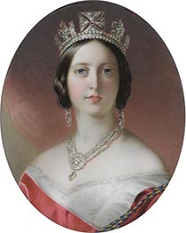 Queen Victoria, 1851 by John Haslem | Painting Reproduction
