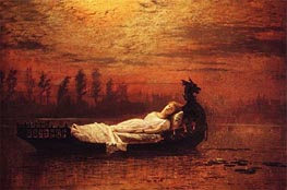 The Lady of Shalott, Undated von Grimshaw | Gemälde-Reproduktion