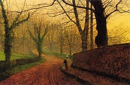 Stapleton Park near Pontefract, 1882 by Grimshaw | Painting Reproduction