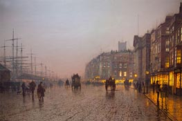 Liverpool from Wapping, 1885 von Grimshaw | Gemälde-Reproduktion