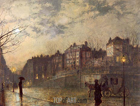 Hampstead, 1881 | Grimshaw | Painting Reproduction