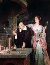 The Laboratory | John Collier | Painting Reproduction