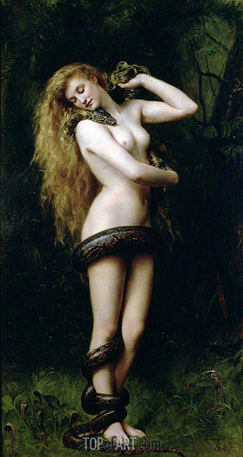 Lilith, 1887 | John Collier | Painting Reproduction