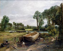 Boat Building near Flatford Mill, 1815 by Constable | Painting Reproduction