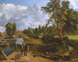 Flatford Mill (Scene on a Navigable River), c.1816/17 by Constable | Painting Reproduction