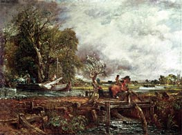 The Leaping Horse, 1825 by Constable | Painting Reproduction