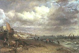 Marine Parade and Chain Pier, Brighton, c.1826/27 by Constable | Painting Reproduction