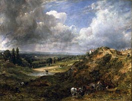 Hampstead Heath, Branch Hill Pond, 1828 by Constable | Painting Reproduction