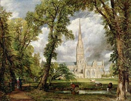 View of Salisbury Cathedral from the Bishop's Grounds | Constable | Painting Reproduction