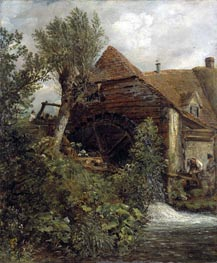 Watermill at Gillingham, Dorset, c.1823/27 by Constable | Painting Reproduction
