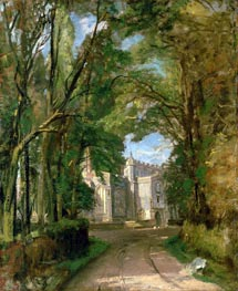 East Bergholt Church, undated by Constable | Painting Reproduction