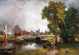 Dedham Lock and Mill, 1820 by Constable | Painting Reproduction