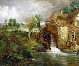 Mill at Gillingham, Dorset, c.1825/26 by Constable | Painting Reproduction