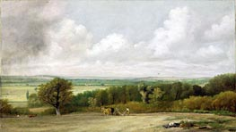 Landscape, Ploughing Scene in Suffolk (A Summerland), c.1824 by Constable | Painting Reproduction