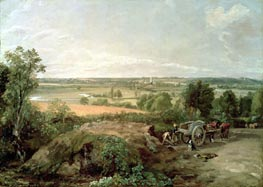 Stour Valley and Dedham Church, c.1815 von Constable | Gemälde-Reproduktion