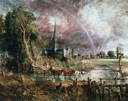 Salisbury Cathedral From the Meadows, 1831 by Constable | Painting Reproduction
