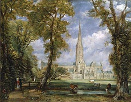Salisbury Cathedral from the Bishop's Grounds, c.1825 von Constable | Gemälde-Reproduktion