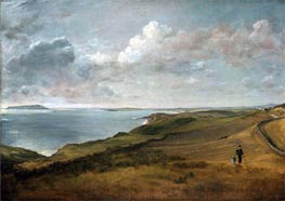 Weymouth Bay from the Downs above Osmington Mills, undated by Constable | Painting Reproduction