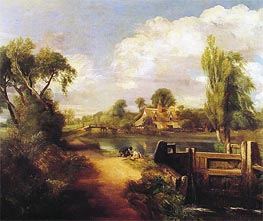 Landscape with Boys Fishing | Constable | Painting Reproduction
