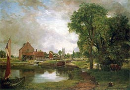 Dedham Lock and Mill, c.1820 von Constable | Gemälde-Reproduktion