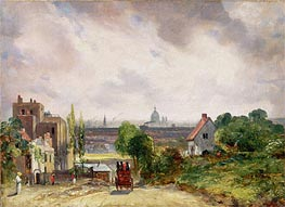 Blick auf die Stadt London von Sir Richard Steeles Cottage in Hampstead | Constable | Gemälde Reproduktion