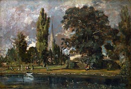 Salisbury Cathedral and Leadenhall from the River Avon | Constable | Gemälde Reproduktion
