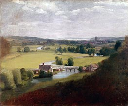 Stour Valley with Dedham in the Distance, c.1800 von Constable | Gemälde-Reproduktion