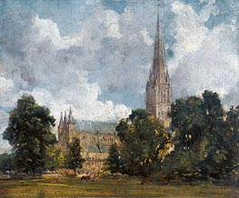 Salisbury Cathedral from the Southwest, 1820 von Constable | Gemälde-Reproduktion