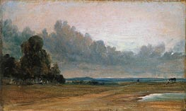 A View on Hampstead Heath with Harrow in the Distance | Constable | Gemälde Reproduktion