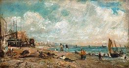 The Marine Parade and Chain Pier, Brighton (Sketch) | Constable | Gemälde Reproduktion