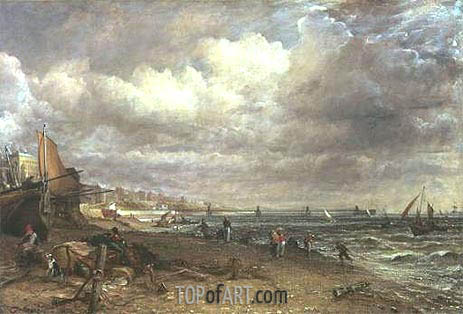 Marine Parade and Chain Pier, Brighton, c.1826/27 | Constable | Painting Reproduction