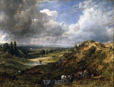 Hampstead Heath, Branch Hill Pond, 1828 | Constable | Painting Reproduction