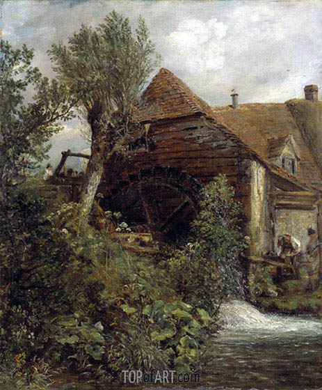 Watermill at Gillingham, Dorset, c.1823/27 | Constable | Gemälde Reproduktion