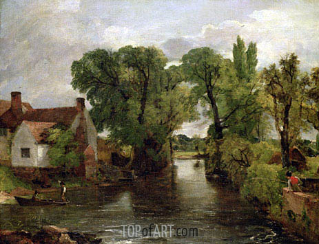 The Mill Stream, c.1814/15 | Constable | Painting Reproduction
