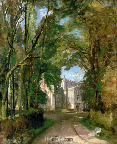 East Bergholt Church, undated | Constable | Painting Reproduction