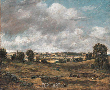 View of Dedham Vale from East Bergholt, 1815 | Constable | Painting Reproduction