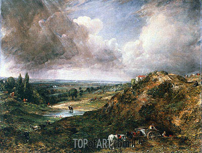 Branch Hill Pond, Hampstead, c.1828 | Constable | Painting Reproduction