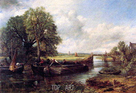 A View on the Stour near Dedham, 1822 | Constable | Painting Reproduction