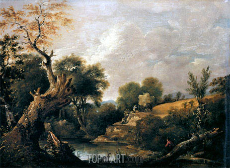 The Harvest Field, undated | Constable | Gemälde Reproduktion