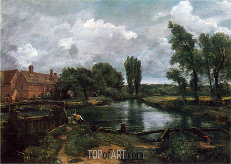 Flatford Lock and Mill, 1812 | Constable | Gemälde Reproduktion