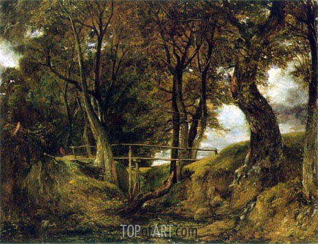 Helmingham Dell, c.1825/26 | Constable | Gemälde Reproduktion