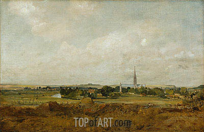 View of Salisbury, undated | Constable | Painting Reproduction