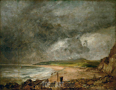 The Bay of Weymouth before a Thunderstorm, c.1818/19 | Constable | Gemälde Reproduktion