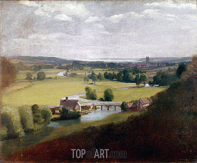 Stour Valley with Dedham in the Distance, c.1800 | Constable | Gemälde Reproduktion