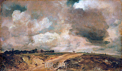 Road to the Spaniards, Hampstead, 1822 | Constable | Gemälde Reproduktion